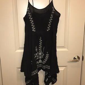 Free People black embroidered dress